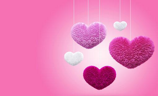 الحبّ باللون الوردي