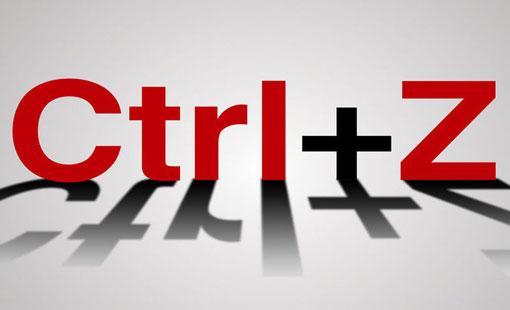 استخدم مفتاح Ctrl + Z في حياتك