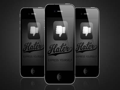 إطلاق تطبيق «Hater» لمشاركة ما يكرهه المستخدمون
