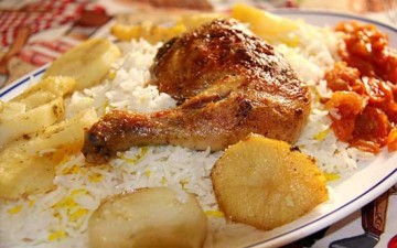 رز بسمتي مع دجاج محمر