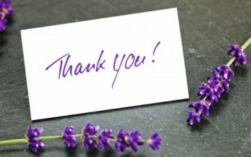 تقديم الشكر للآخرين كتابتاً