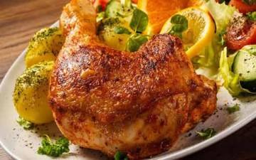 دجاج مشوي بالفرن