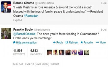 رد ساخر على تغريدة لأوباما عن رمضان يلقى انتشاراً واسعاً