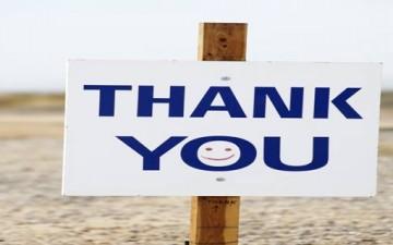 لا تترددوا في قول كلمة «شكراً»